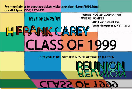 Class of 1999 - 10 Year Reunion Invite